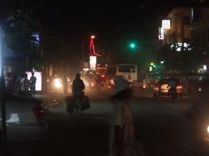 motorbike in the night