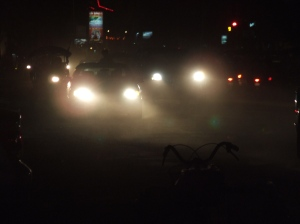 cars in the night