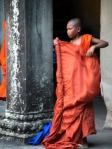 Young monk in Angkor
