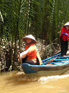 Mekong rowing boat