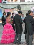 Wedding outside basilica de la Soledad
