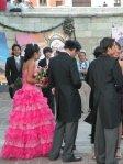 Wedding outside basilica de la Soledad