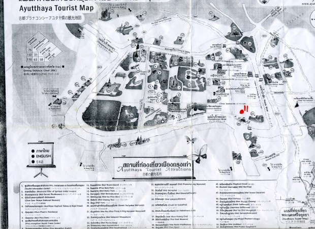 Ayutthaya Tourist Map
