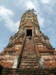 climbing prang at Wat Chaiwatthanaram