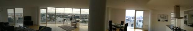 Top floor apartment Canary Wharf London