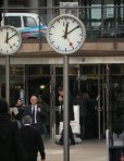 Clocks Canary Wharf London