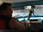 Blue taxi driver