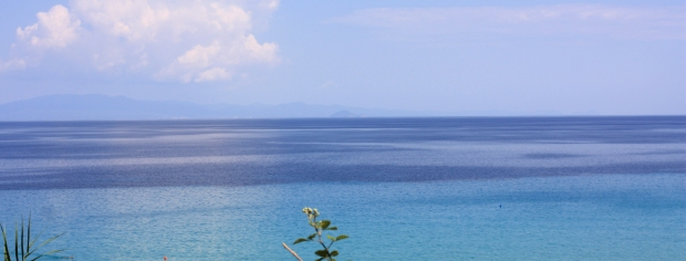 afytos greece sea of blue