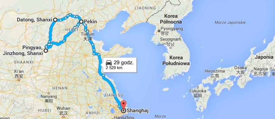 China trip map